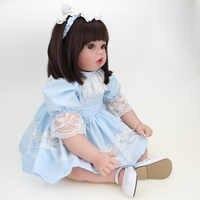 50cm 20 polegadas boca aberta silicone popular crianças princesa menina boneca moda bonecas reborn brinquedos para meninas presente de aniversário bonecas