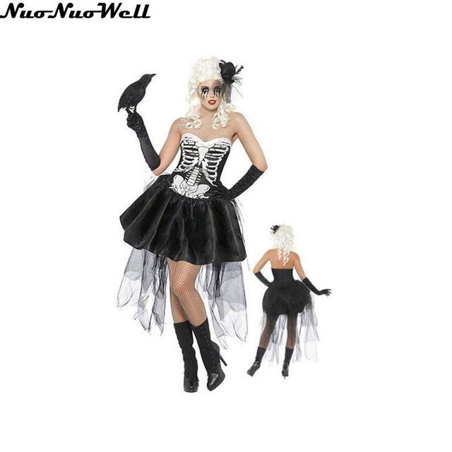 Bride of Vengeance Adult Women Skeleton Bride Cosplay Costume Halloween Party Fancy Dress Sexy Sugar Skull  sc 1 st  AliExpress.com & Bride of Vengeance Adult Women Skeleton Bride Cosplay Costume ...