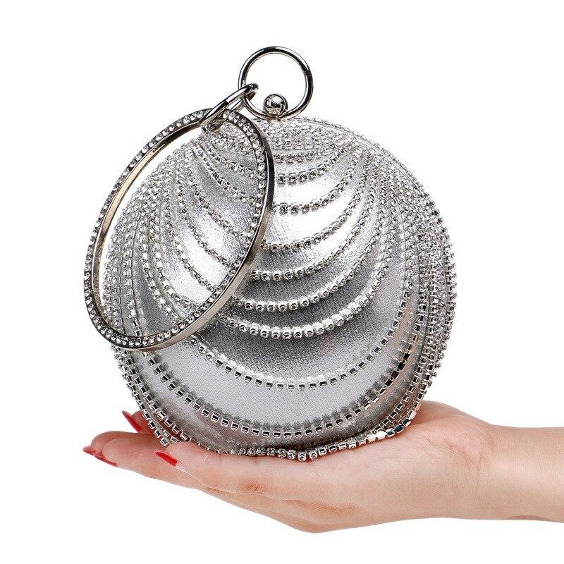 Circle Handbag Clutch-Bag Round Famous Designer Evening-Bag Shoulder-Oblique-Bags Small
