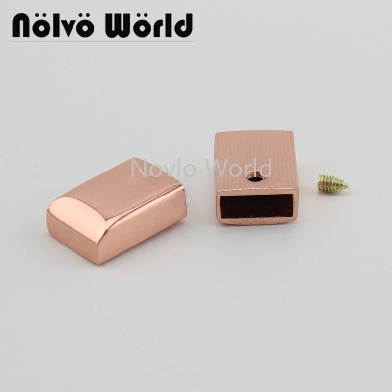 10 pieces test, small size small quantity metal caps bag handle caps women handbag clips diy hardware accessories
