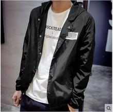 Free shipping !!! 2016 Men in the summer of thin youth men's jacket is prevented bask in coat clothes wet / M-3XL
