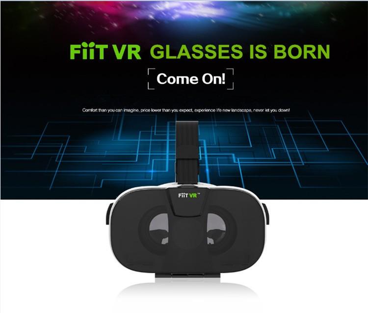 FIIT VR 3D Virtual Reality Video Helmet Cardboard 2.0 VR Glasses Box for 4.0-6.5 inch Smartphone Lightweight Ergonomic Design