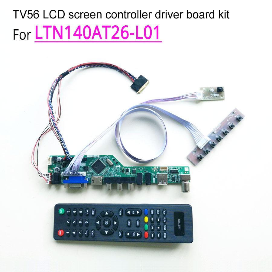 HDMI+DVI+VGA LCD LED LVDS Driver Controller board Kit for LTN140AT26-L01