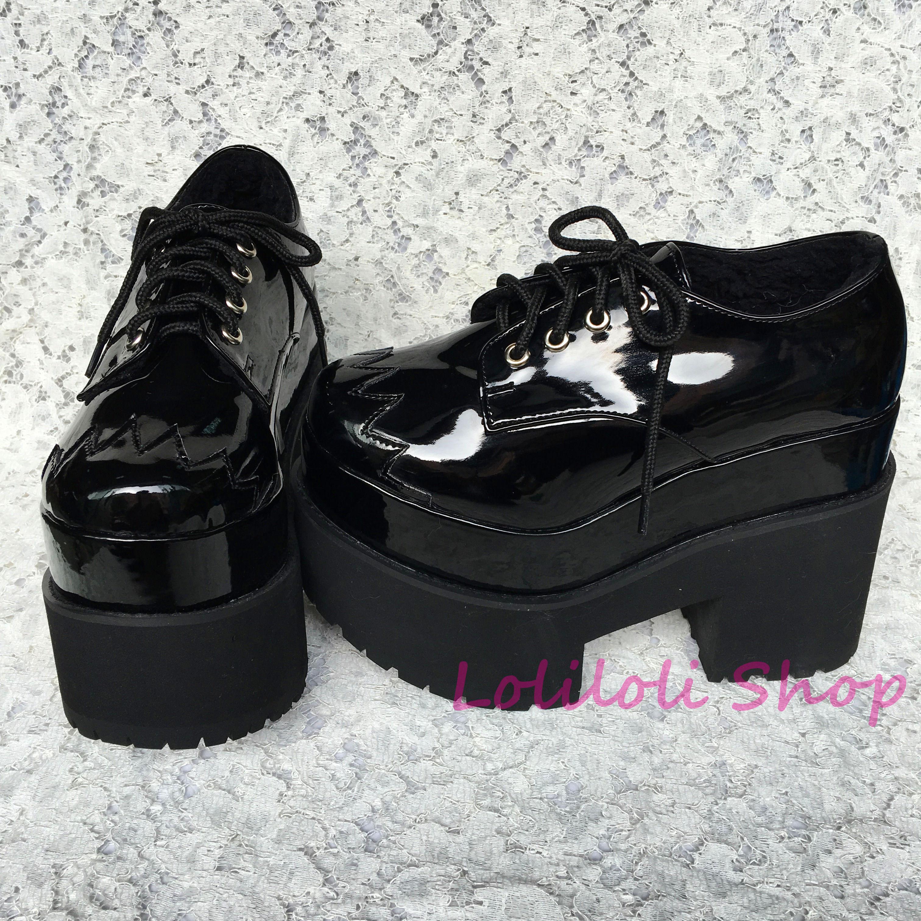 все цены на  Princess sweet gothic lolita shoes Loliloliyoyo antaina Japanese design shoes custom black bright skin thick heel shoes 5018s-1  в интернете