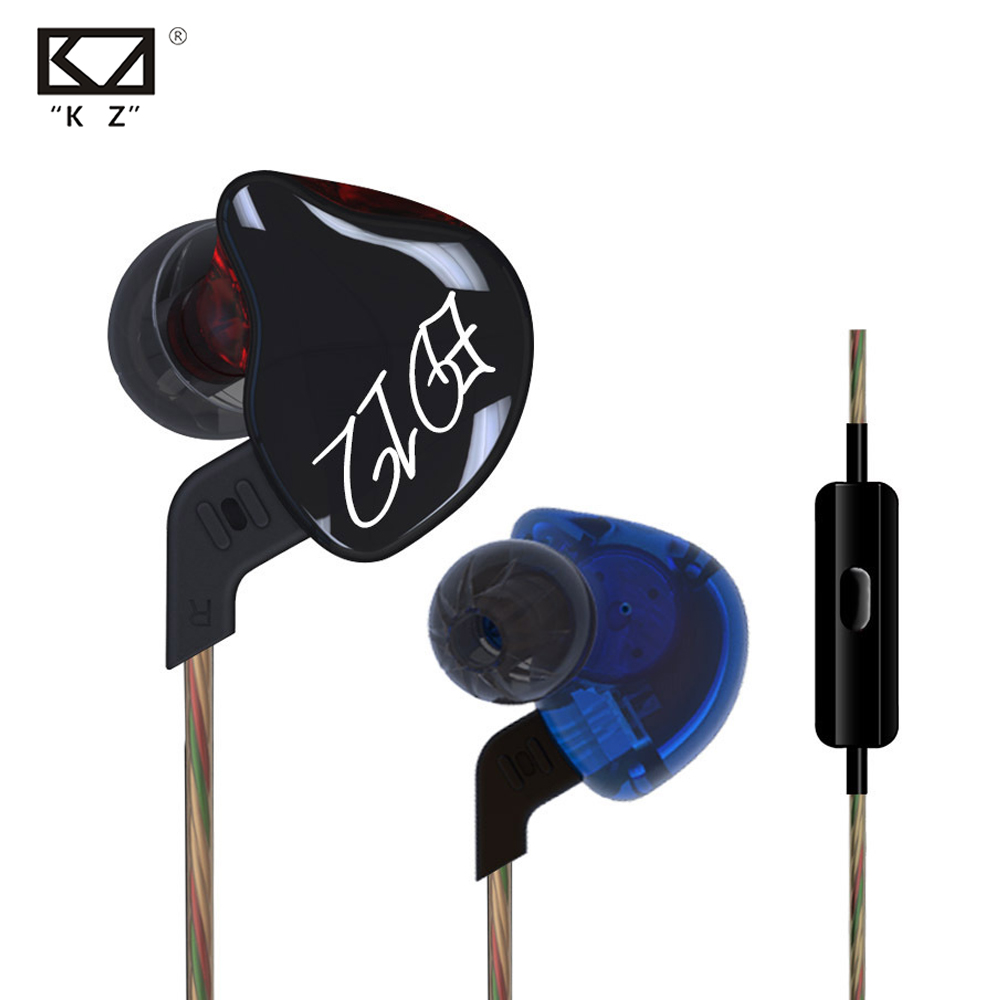 2016 New KZ ED12 In Ear Earphone Stereo Running Sport Earphone Noise Cancelling HIFI Bass Monitor Earphones Earbud Free Shipping