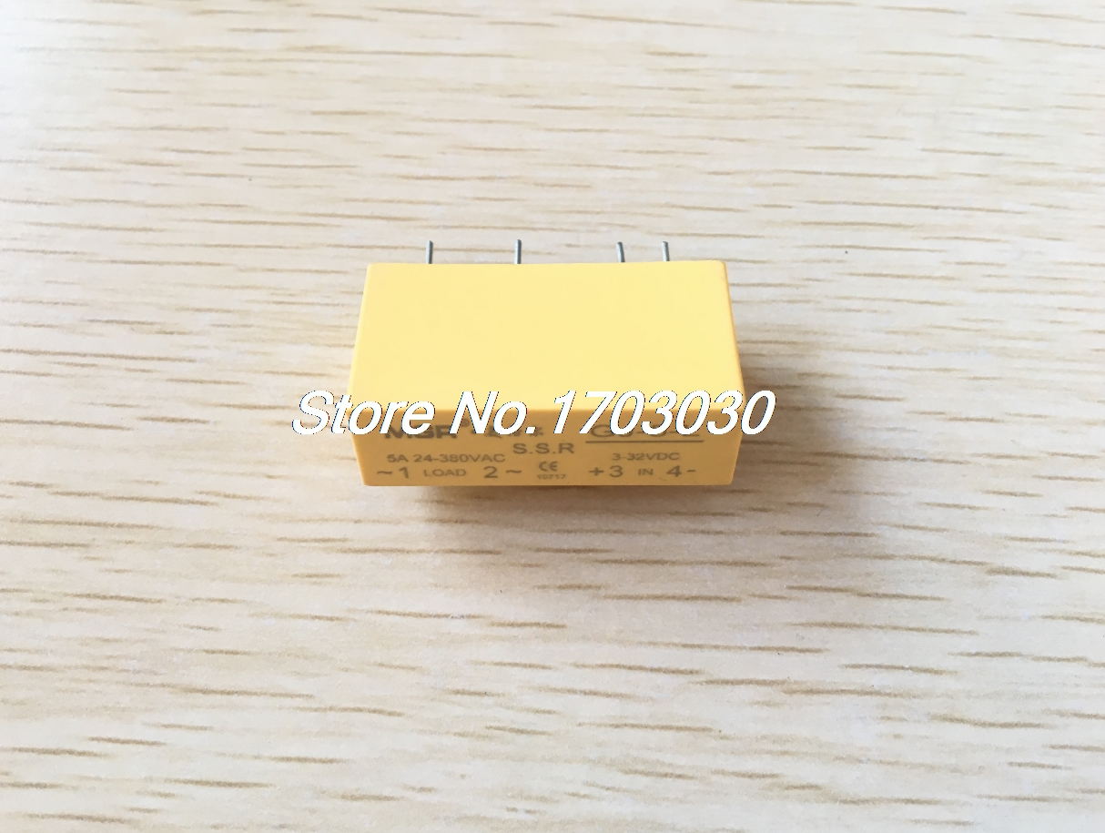 1 pcs GJ-5-L DC-AC PCB SSR In 3-32VDC,Out 24-380V AC 5A Solid State Relay 1pc new solid state relay g3mb 202p dc ac pcb ssr in 12v dc out 240v ac 2a june xq s018y high quality