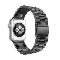 38 42mm Metal Stainless Steel Watch Band For Apple Watch Wrist Strap Fold Security Clasp Bracelet