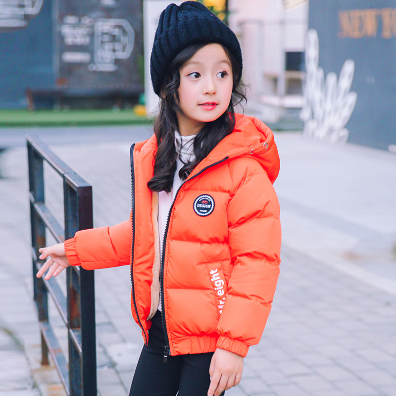 Children's Outerwear girl Winter Warm Hooded Coat Children Cotton-Padded Clothes girls Down Jacket kid jackets 4-14 years children winter coats jacket baby boys warm outerwear thickening outdoors kids snow proof coat parkas cotton padded clothes