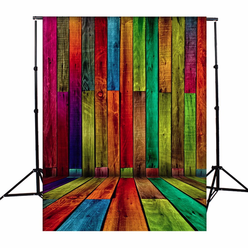 5x7ft Vinyl Wood Photography Background Colorful Rainbow Board Theme Photographic Backdrops For Studio Photo Props 1.5x2.1m 5x7ft vinyl photography background white brick wall old wood texture photographic backdrops for studio photo props 2 1m x 1 5m