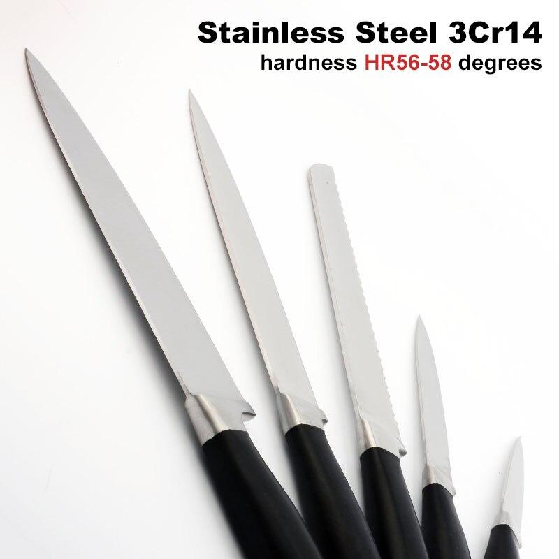 Heta 5 st / set Rostfritt stål Köksknivar POM Svart Handtag Bröd - Kök, matsal och bar - Foto 4