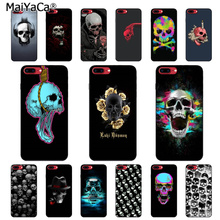 MaiYaCa Horror Skull Coque Shell Phone Case for Apple iPhone 8 7 6 6S Plus X XS MAX 5 5S SE XR Cellphones yinuoda bull adventures coque shell phone case for apple iphone 8 7 6 6s plus x xs max 5 5s se xr cellphones