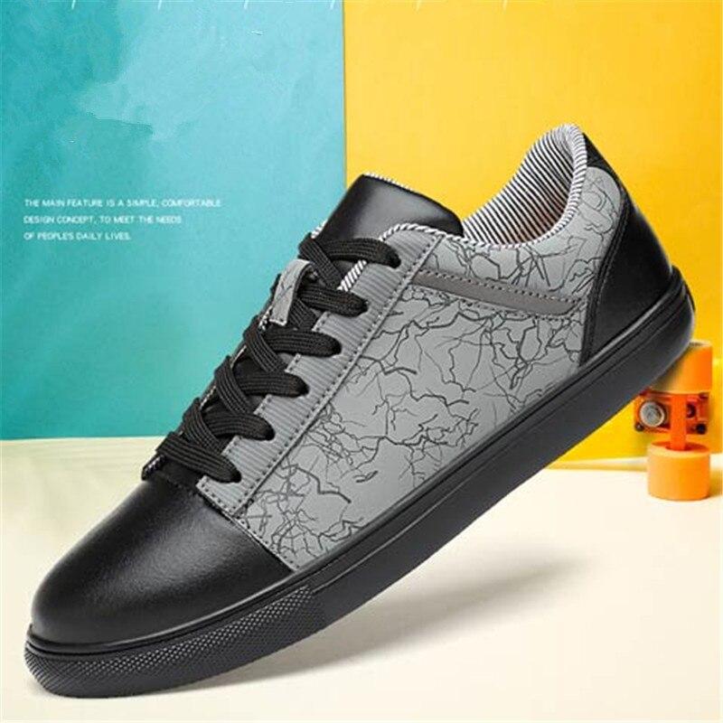 2018 spring Men Shoes Luxury Brand Leather Casual lace up Shoes Men - Men's Shoes - Photo 5