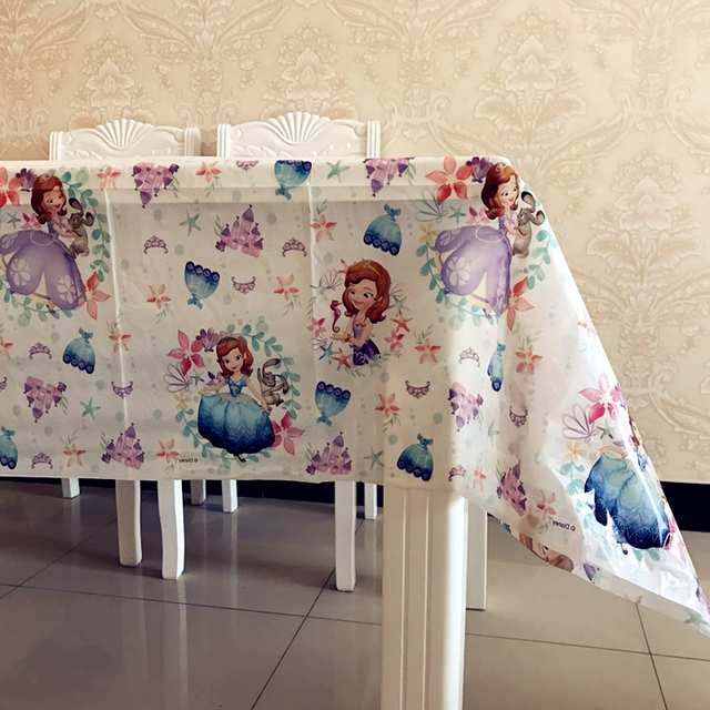princess sofia plastic table covers 1st kids birthday party favors rh aliexpress com paper tablecloths scotland paper tablecloths ebay