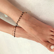 Fashion Anklet Chian Attractive Multi-layered Anklet Retro New Beach Simple Multi-layered Anklets Bead Chain