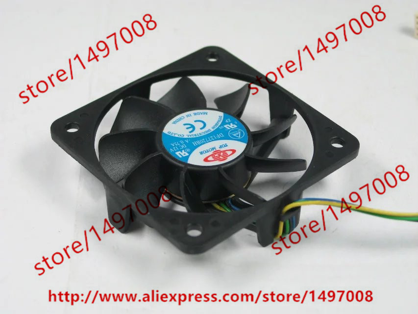 Free Shipping DF127720BH DC 12V 0.75A 4-wire 4-pin connector Server Square Cooling Fan free shipping for delta afc0612db 9j10r dc 12v 0 45a 60x60x15mm 60mm 3 wire 3 pin connector server square fan