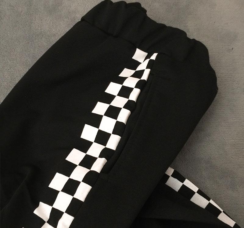 HTB1zzauXcrHK1JjSszcq6Ah4VXaP - Checkerboard Pants Punk Black White Squares Cool  Street Trouser JKP003
