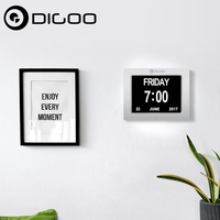 Digoo DC K8 8 Memory Loss Digital Electronic Calendar Alarm Day Clock With Extra Large Non