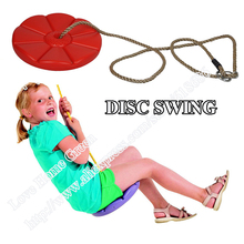 Kid Outdoor Disc Swings Plastic Daisy Seat Monkey Swing Hanging Child Chair With Rope