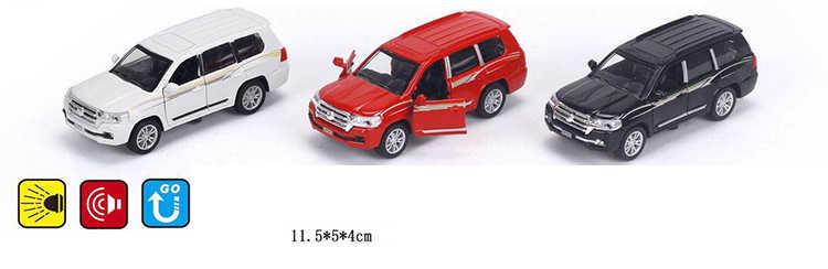 Горячие 1:36 весы колёса литья под давлением внедорожник автомобиль toyotas pradoes металл модель отступить сплава игрушечные лошадки Коллекция со свето