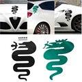 1x 20x35CM ALFA ROMEO Decal Stickers High Temp red cross Logo emblem Badge sticker for Mito 147 156 159 166 Cross snake