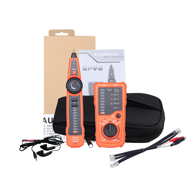 AUA168 RJ11 RJ45 Cat5 Cat6 Telephone Wire Tracker Tracer Toner Ethernet LAN Network Cable Tester Detector Line Finder