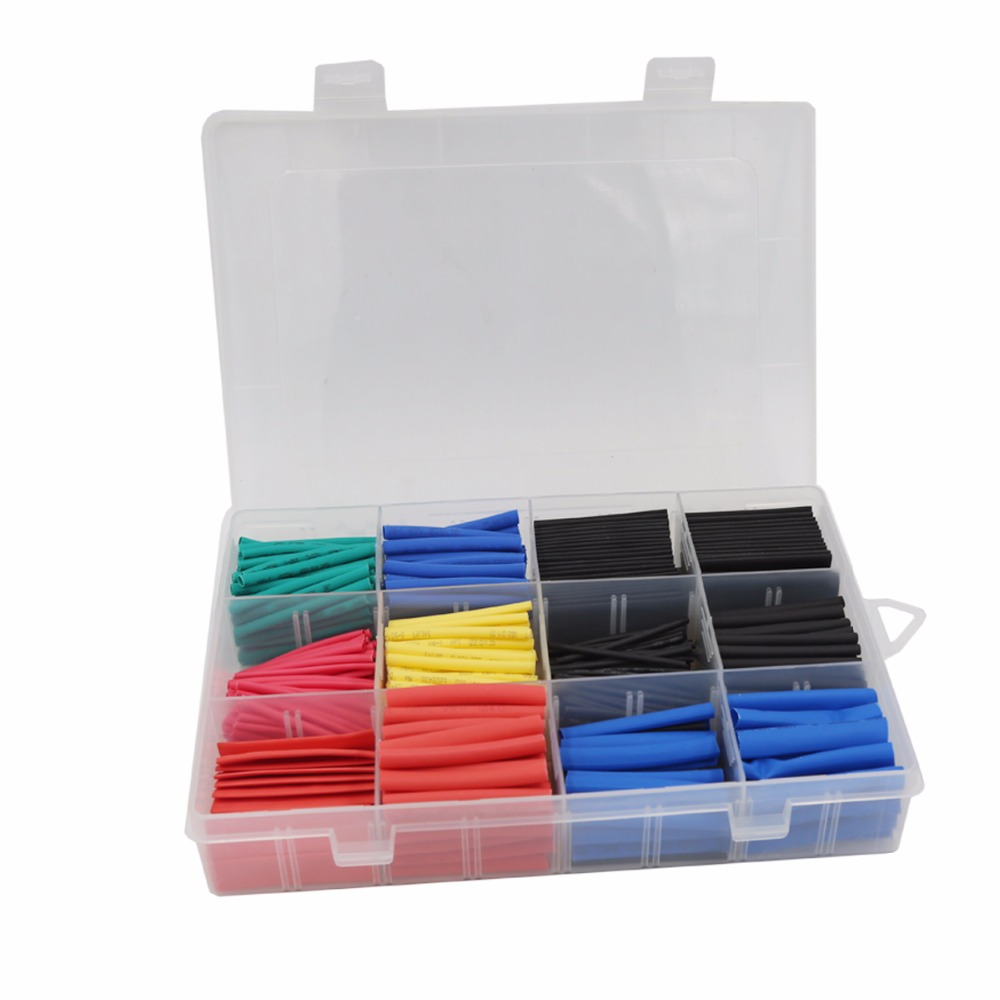 Heat Shrink Electric Wire Cable Wrap Insulation Tube Kit with Box Set of 560
