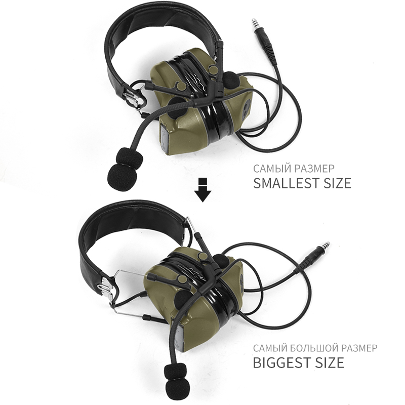 Image 2 - TAC SKY COMTAC II silicone earmuffs outdoor tactical hearing defense noise reduction pickup military headphones FG-in Walkie Talkie Parts & Accessories from Cellphones & Telecommunications