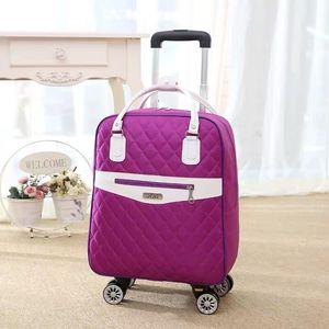 Image 4 - 新しい女性旅行荷物スーツケースハンドバッグ、女の子キャビン防水オックスフォードローリングトロリースーツケース、女性キャリーアドオンホイールドラッグバッグ