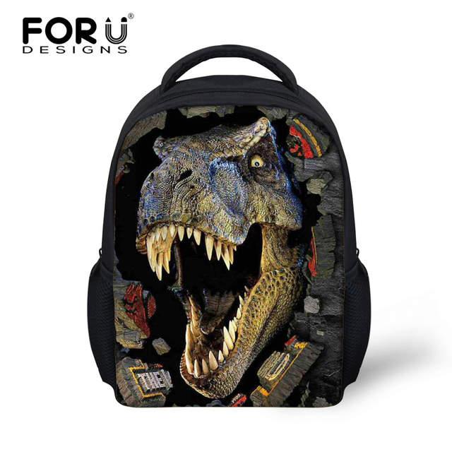 c952c0bdb0c 12 Inch Children School Bags 3D Zoo Animal Dinosaur Backpack Small Kid  Schoolbag Baby Boys Bookbag