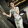 Slim Cheongsam Dress New Fashion Autumn Winter Casual Garments Women Long Qipao Velour Elegant Robe Size S M L XL XXL
