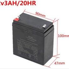 12 В 3Ah vrla свинцово-кислотная аккумуляторная батарея 6FM3 аккумуляторная батарея для UPS аварийного питания динамик