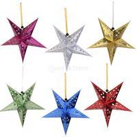 10 stücke Stern Papierlaterne Lampenschirm Hochzeit Hause Hängende Dekoration