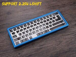 Image 5 - Cassa In Alluminio anodizzato per xd60 xd64 60% tastiera personalizzata acrilico pannelli diffusore in acrilico gh60 xd64 xd60 60% girevole supporter