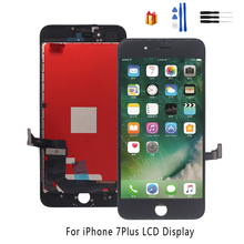 For iPhone 7 Plus Display Touch Screen Digitizer Replacement Parts For iPhone 7 Plus LCD Display Screen Phone Parts Free Tools new 7 for texet tm 7086 lcd display screen 164 100mm tablet pc repairment parts free shipping