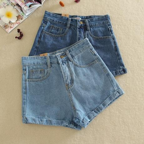928d924f200 High Waisted Denim Shorts Women Summer Shorts Classic Jeans Shorts For  Ladies Girls Light Blue Dark Blue S M L