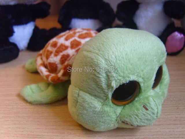 TY beanie boos collection collection beanie big eyes stuff doll toy 6  inches green tortoise sandy. Price  355934d1d161