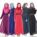Мода Осень Мусульманин Абая Элегантный Турецкая Одежда Для Женщин Вышивка Ислам Женщины Платье Арабо-Мусульманской Женской Одежды