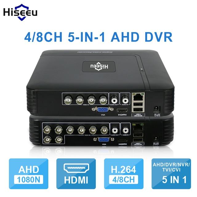 AHD 1080N 5IN1 Para Kit CCTV 4CH 8CH CCTV DVR Mini DVR VGA Sistema de Seguridad Mini NVR HDMI Para 1080 P Cámara IP Onvif DVR PTZ H.264