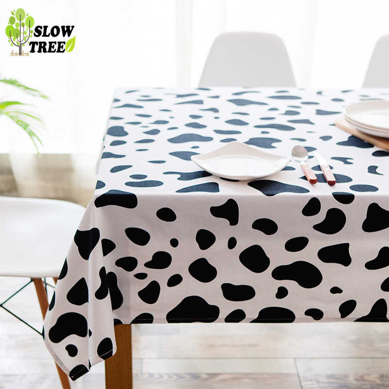 Slow Tree Modern Tablecloth North European Wind Restaurant Table Cloth Thickened Rectangular Cow Grain Tea Table Table Cover