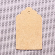 Kraft Paper Scalloped Rectangular Tags