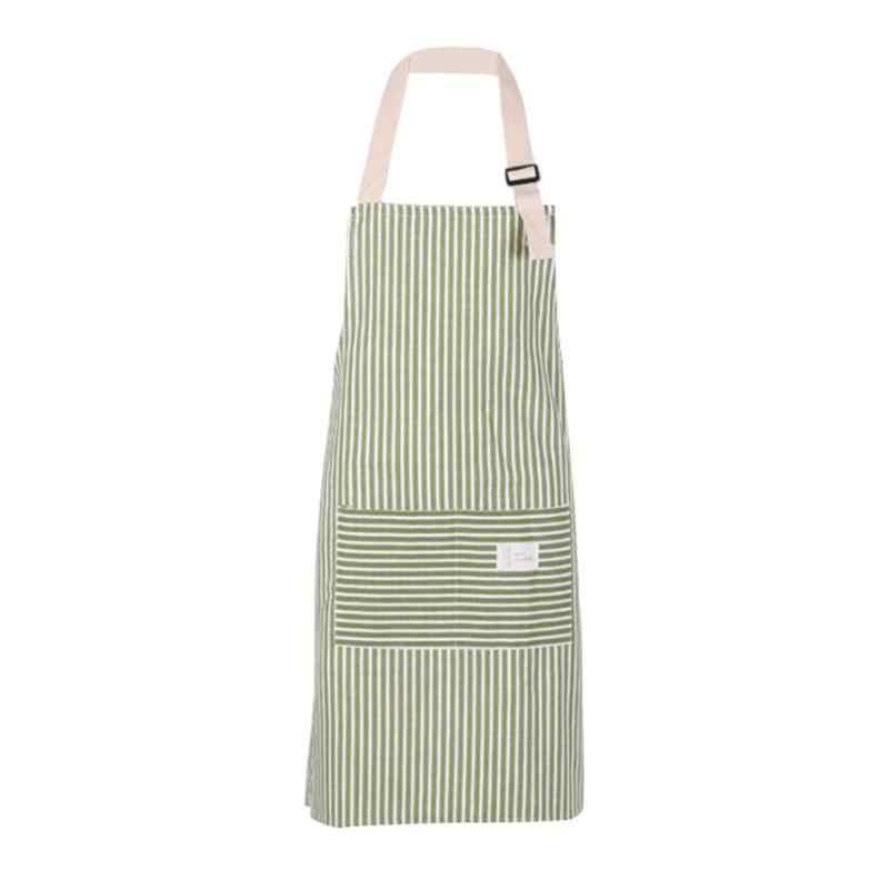 מינימליסטי סגנון כותנה פס שרוולים איש נשים סינרים אנטי מלוכלך כותנה מטבח למבוגרים שמלת מטבח לבשל סינר עם כיסים