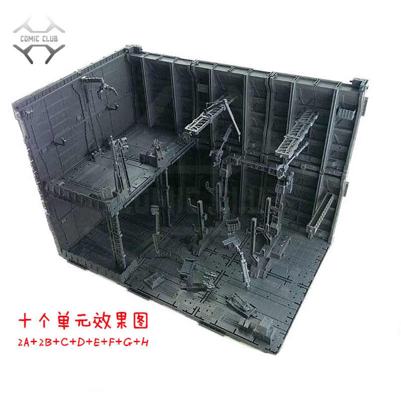 COMIC CLUB IN-STOCK CG MODEL MG HG PG A-J set gundam Assembly display Machines Nest Action Chain Base figure toy gift