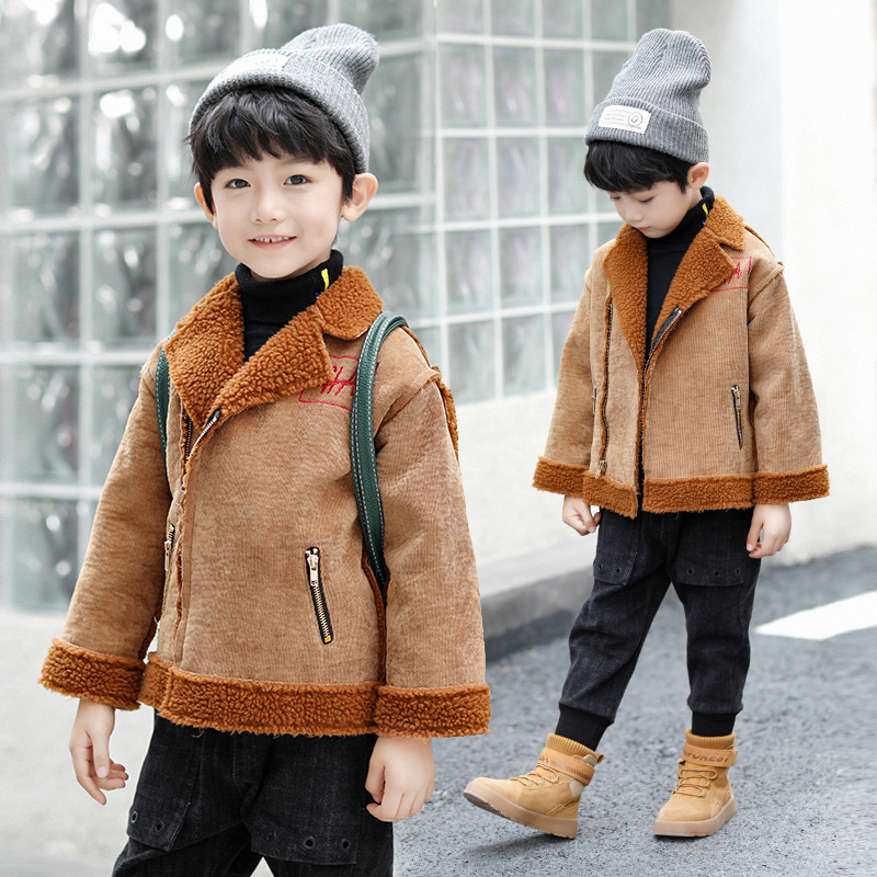 Warm Pelt Collector Faux Fur Hire Jacket for Boys Big Children's Thermal Suede Coat Kids Clothes Outwear various girl for hire