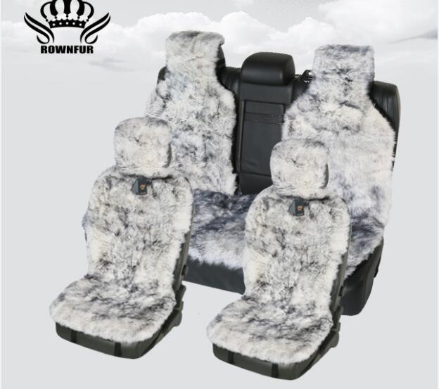 1 stück, 2 stück, 1 satz Lange Haar auto sitz abdeckung, Natürliche pelz schaffell sitzbezüge, schwarz-weiße farbe, sitzbezüge universal für auto kalina
