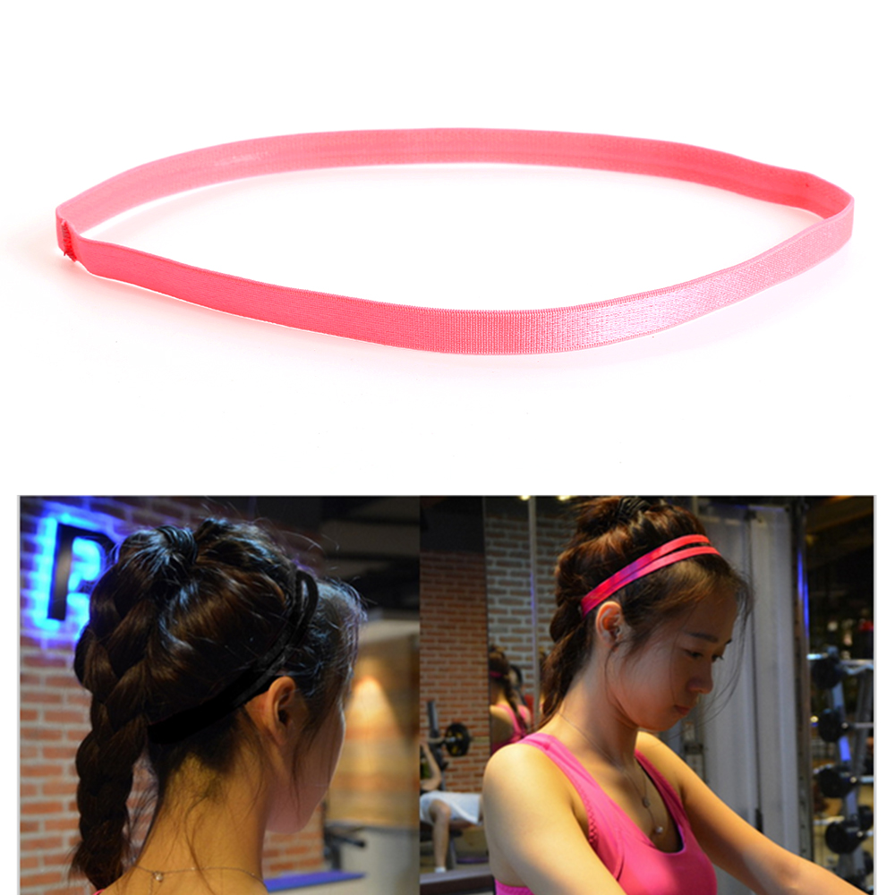 2pcs Women Men Yoga Running Football Sports Hair Bands Sport Headband Girls Anti-slip Elastic Rubber Sweatband