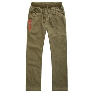 Image 1 - Nova moda primavera verão outono meninos calças 100% algodão calças criança casual comprimento total sólida para crianças 6 14years