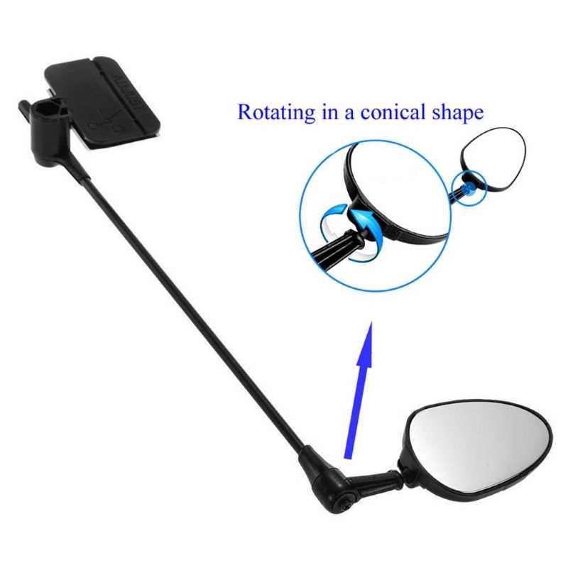 自転車自転車乗馬ミラー軽量アルミヘルメット柔軟な 360 度調整可能なリアビューミラー