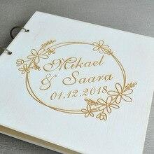 Свадебная Гостевая книга в деревенском стиле на заказ, Свадебная Гостевая книга с гравировкой, свадебный подарок на заказ