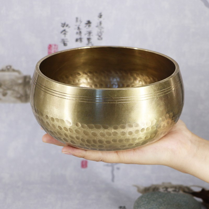 Tibetan Handmade Bowl Nepal Singing Bowl Ritual Music Therapy Home Decoration Tibetan Singing Bowl Religious Supplies 2019