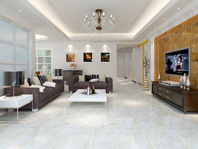 Woonkamer Interieur Stijlen : Keramische tegels gepolijst geglazuurd woonkamer vloertegels